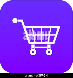 Shopping cart icon digital purple - Stock Image