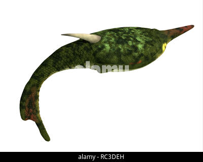 Pteraspis Fish Side Profile - Pteraspis was a primitive jawless fish that lived in the oceans of the Devonian Period. - Stock Image