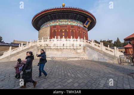 Imperial Vault of Heaven in Temple of Heaven in Beijing, China - Stock Image