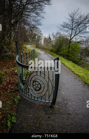 Sustrans Oban to Fort William cycle route, Scotland. - Stock Image