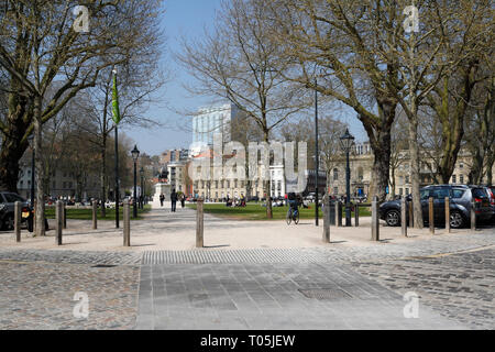 Queen Square in Bristol England UK - Stock Image