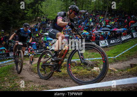 Jaroslav Kulhavy of Czech Republic competes competes at the XC men race of UCI MTB World Cup in Albstadt, Germany, May 19, 2019. (CTK Photo/Michal Cer - Stock Image