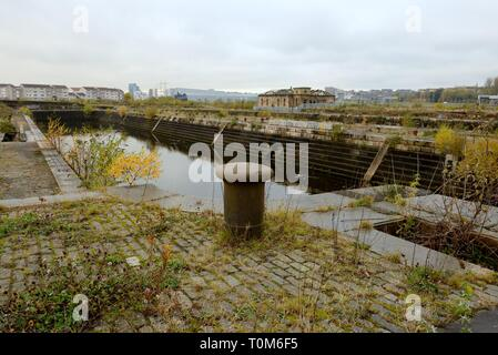 The abandoned Govan docks where Steven Spielberg has acquired permission from Glasgow city council, Scotland, UK to shoot his new film. - Stock Image