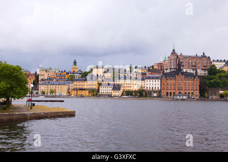 Colorful architecture Stockholm - Stock Image