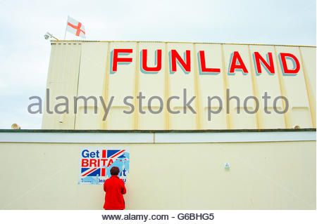 Southport, Lancashire, UK 24th June 2016. On the day Britain votes to leave the European Union, were counted and - Stock Image