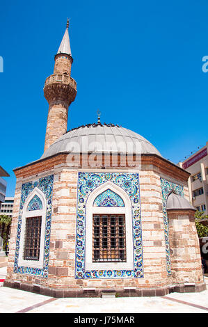 Konak Mosque also known as Yalı Mosque . It was built in 1755 it is located in Konak Square. Izmir. Turkey. - Stock Image