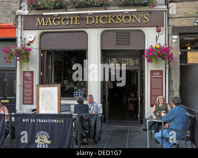 Maggie Dicksons pub, Grassmarket, Edinburgh,Scotland,UK - Stock Image