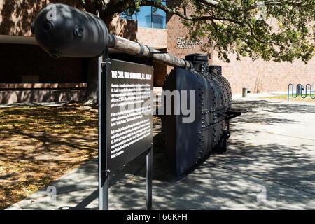 Replica of the HL Hunley in Charleston, South Carolina, USA. - Stock Image