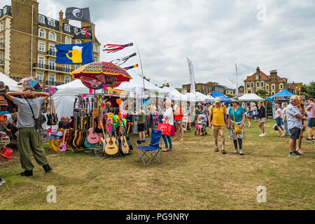 Trade Stands,Broadstairs,Folk Week,Broadstairs,Kent - Stock Image