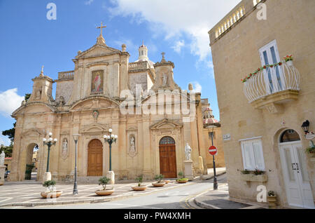 St Paul's Church in Rabat, Malta - Stock Image