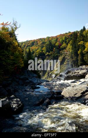 Colourful autumn foliage Canyon Sainte Anne Park - Stock Image