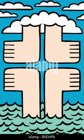 Feet first - Stock Image