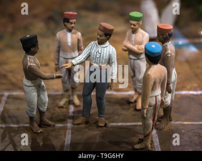 Atya Patya game diorama, Dr Bhau Daji Lad Museum, Mumbai, India - Stock Image