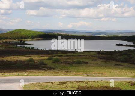Loch Kinardochy near Tummel Bridge, Perthshire viewed from near Tomphubil Limekiln - Stock Image