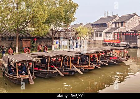 Boats For Hire Xitang China - Stock Image