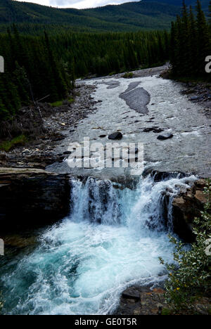 Sheep River Falls Kananaskis Rocky Mountains Alberta Canada - Stock Image