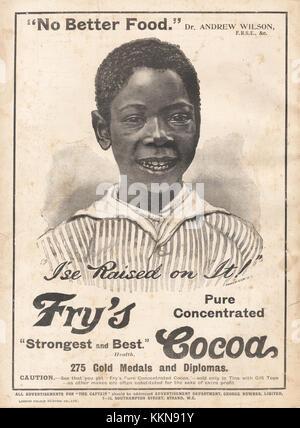 1899 UK Magazine Fry's Cocoa Advert - Stock Image