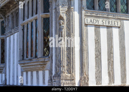 Guildhall, Lavenham Town Centre, Suffolk, England, UK, GB - Stock Image