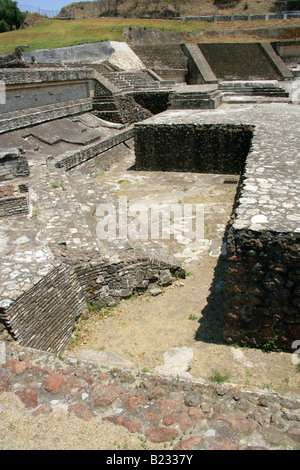 Building 3, the Archeological Excavations at the Great Pyramid of Cholula, Mexico - Stock Image