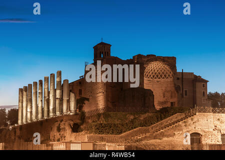 Temple of Venus and Roma, Rome, Italy - Stock Image