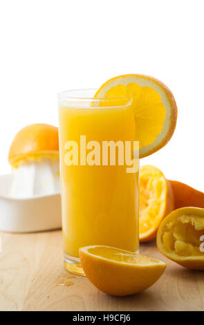Homemade fresh organic orange juice - Stock Image