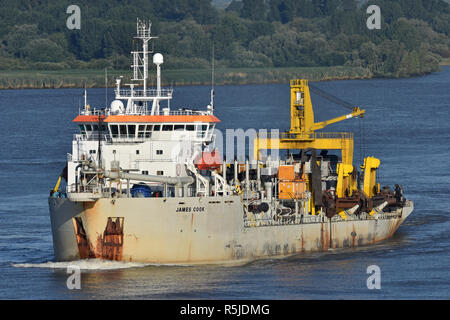 Hopper Dredger James Cook - Stock Image