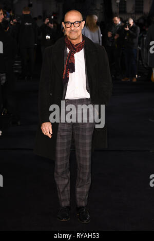 London, UK. 12th Mar, 2019. LONDON, UK. March 08, 2019: Stanley Tucci arriving for the premiere of 'The White Crow' at the Curzon Mayfair, London. Picture: Steve Vas/Featureflash Credit: Paul Smith/Alamy Live News - Stock Image