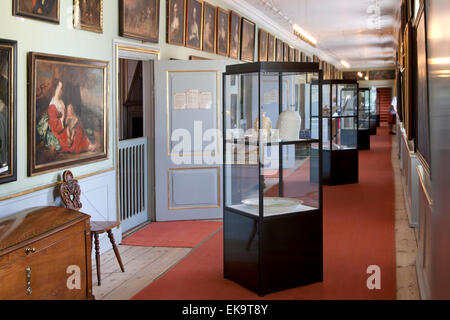 The public exhibition of art and historical antiquities at Gavnoe castle in Denmark - Stock Image