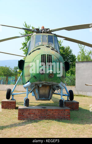 Old Mi-4 helicopter - Stock Image