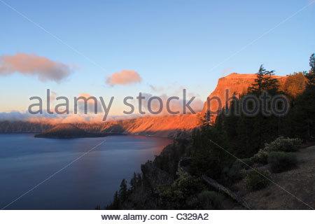 Sunrise, Crater Lake National Park, Oregon, USA. 2010 - Stock Image