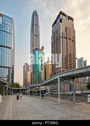 High-rise buildings in Futian Central Business District (CBD). Shenzhen, Guangdong Province, China. - Stock Image
