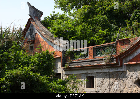 Ruins of a swallow tail style house. Kinmen National Park. Kinmen County, Taiwan - Stock Image