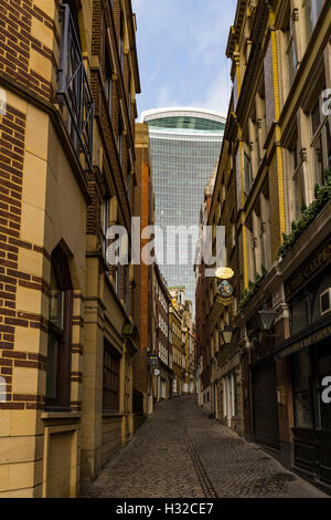 20 Fenchurch Street (The Walkie-Talkie) from Lovat Lane, London, England, United Kingdom - Stock Image
