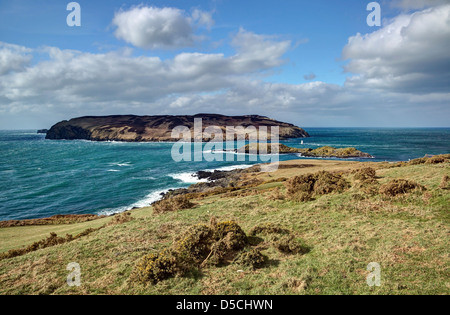 View of the Calf of Man - Stock Image