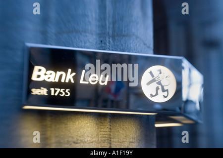 Switzerland Zuerich Bank Leu Bahnhofstrasse - Stock Image