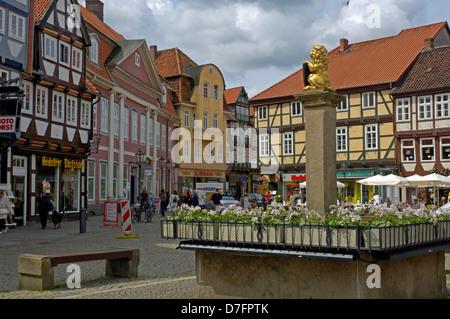 Germany, Niedersachsen, Celle, Grosser Plan, Stechinelli Haus - Stock Image