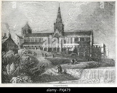 General view of the exterior of Glasgow Cathedral.      Date: circa 1850s - Stock Image