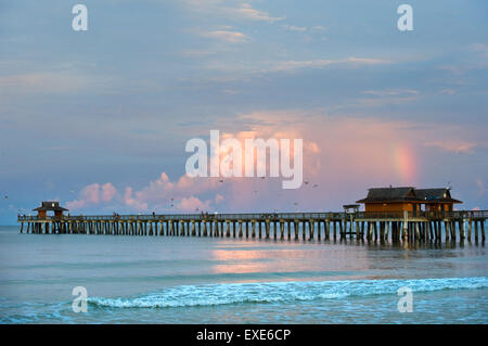 Naples Pier in Florida - Stock Image