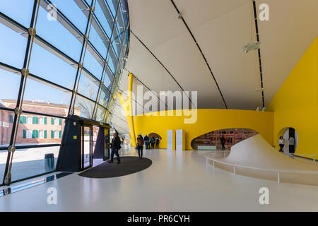 The Museo Enzo Ferrari automobile museum, Modena, Italy, official museum of Ferrari; building (2012) designed by British architects Future Systems - Stock Image