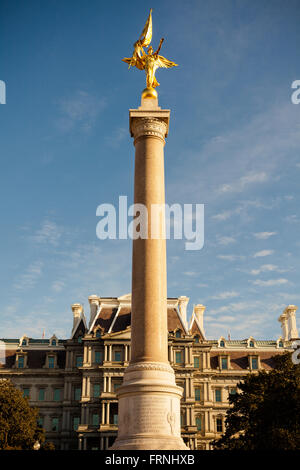 First Division Monument in Washington DC - Stock Image