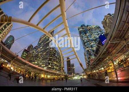 Chong Nonsi BTS Station , Bangkok, Thailand, - Stock Image