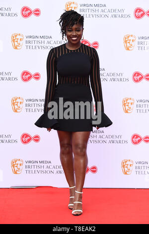 LONDON, UK. May 12, 2019: Clara Amfo arriving for the BAFTA TV Awards 2019 at the Royal Festival Hall, London. Picture: Steve Vas/Featureflash - Stock Image