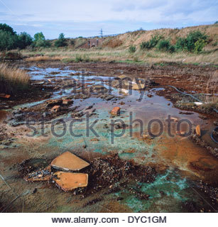 Land polluted with buried toxic waste, Walsall, West Midlands - Stock Image