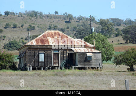 Old Queensland farmhouse, Darling Downs, Queensland, Australia - Stock Image