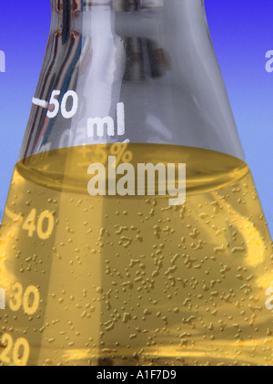 a research laboratory flask - Stock Image