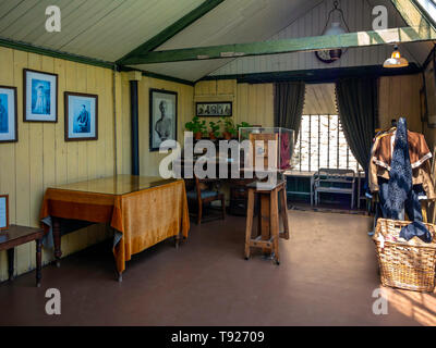 Interior of an early photographic studio in the  Ryedale Folk Museum in Hutton le Hole North Yorkshire England UK - Stock Image