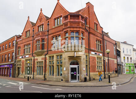 The HSBC bank branch in Oswestry Shropshire England - Stock Image