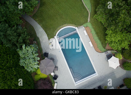 Aerial of Virginia Beach Underwater Studio Pool - Stock Image