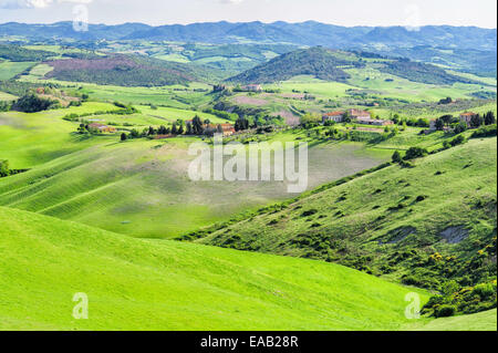 A landscape in rural Tuscany. - Stock Image