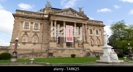 The Hessian State Theatre (Hessisches Staatstheater) in Wiesbaden, the state capital of Hesse, Germany. - Stock Image